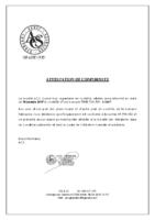 Attestation conformite – Banque PEHD 700