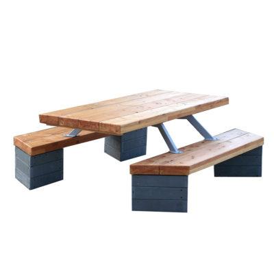 AMAGO table picniq plastique recyclé Mix Urbain