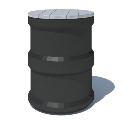 BASILE Tabouret 1300 plastique recyclé Mix Urbain