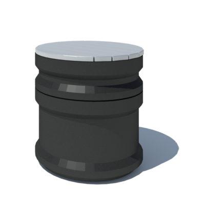 BASILE tabouret 1000 plastique recyclé Mix Urbain