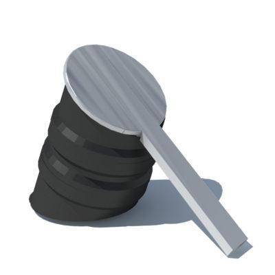 BASILE tabouret pente plastique recyclé Mix Urbain