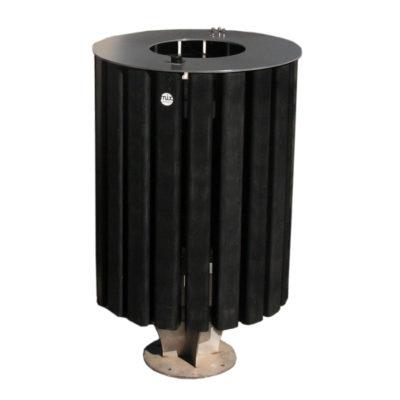 ESIRA Corbeille black edition plastique recyclé Mix Urbain