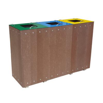 LABELLIA corbeille tri selectif plastique recyclé Mix Urbain
