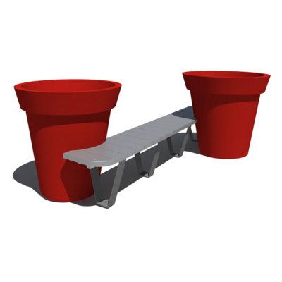 banquette entre pots palaceplastique recycle Mix Urbain