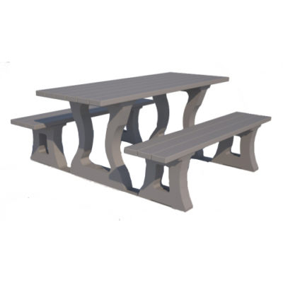 RIVA TABLE 1800 plastique recycle Mix Urbain