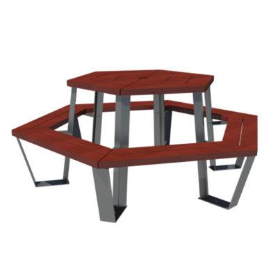 STYLLA Table hexagonale plastique recycle Mix Urbain