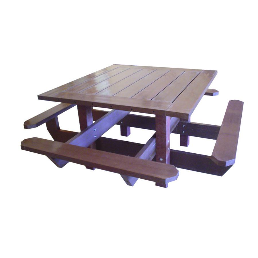 TOLEA C4 TABLE PIQUE NIQUE CARRE - Mix Urbain, mobilier ...