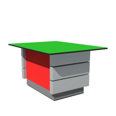 DALOS Table basse plastique recycle Mix Urbain